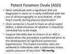 patent foramen ovale asd122