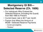 montgomery gi bill selected reserve ch 1606