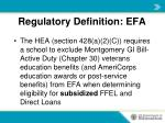 regulatory definition efa1
