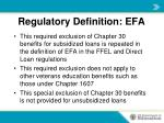 regulatory definition efa2