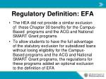 regulatory definition efa3