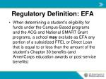 regulatory definition efa4