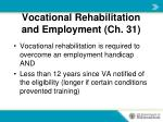 vocational rehabilitation and employment ch 311