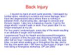 back injury