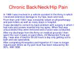 chronic back neck hip pain