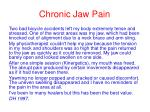 chronic jaw pain38