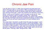 chronic jaw pain39