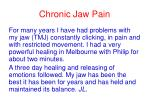 chronic jaw pain40