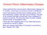 chronic pelvic inflammatory disease