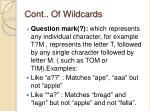 cont of wildcards