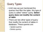 query types