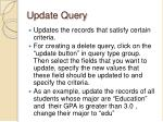 update query