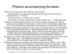 photons accompanying the beam
