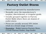 factory outlet stores