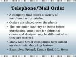 telephone mail order