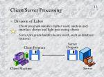 client server processing