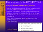 how to prepare for the fcat fcat 2 010