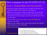 how to prepare for the fcat fcat 2 016