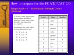 how to prepare for the fcat fcat 2 018