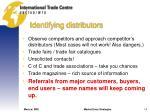 identifying distributors