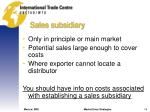 sales subsidiary
