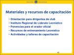 materiales y recursos de capacitaci n