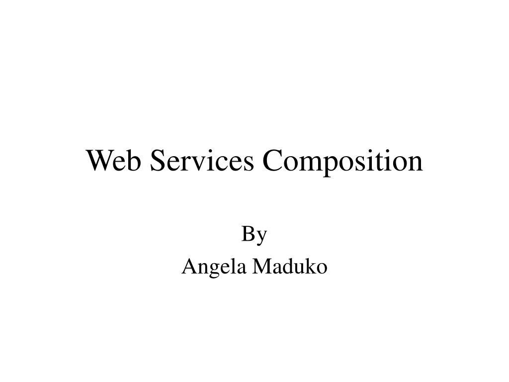 web services composition l.