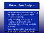 extract data analysis