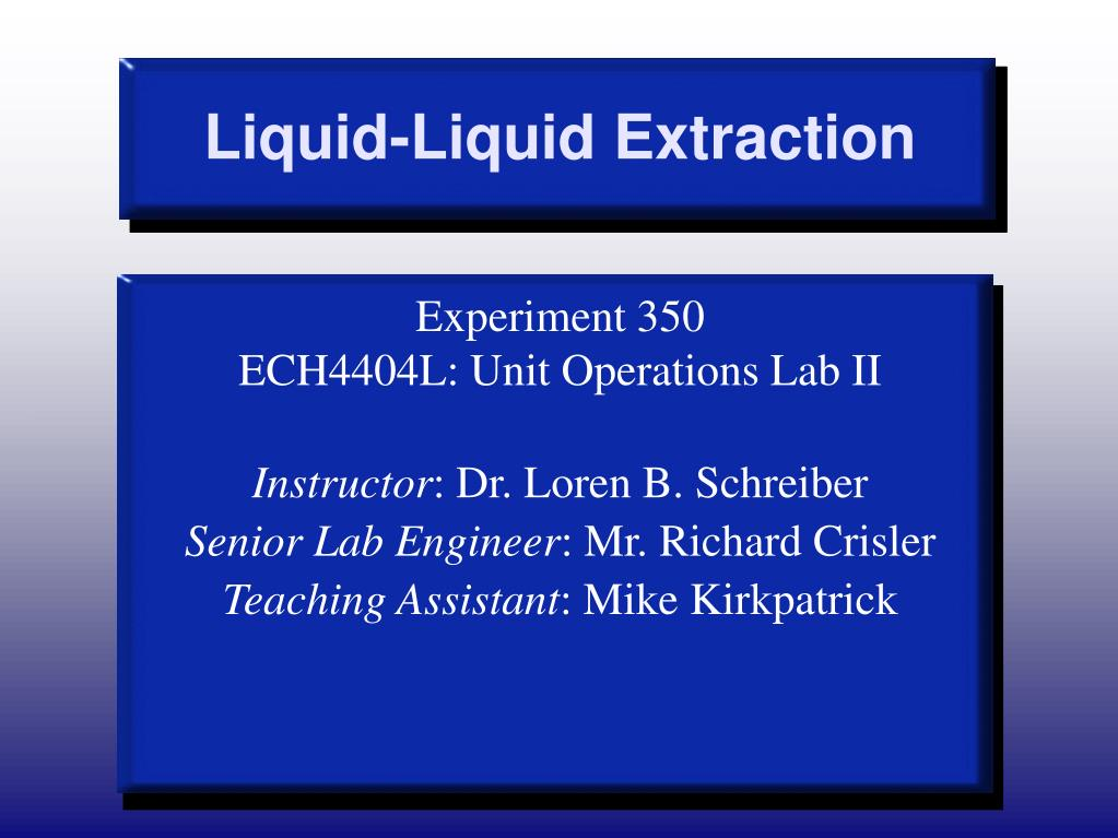liquid liquid extraction l.