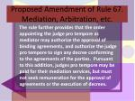 proposed amendment of rule 67 mediation arbitration etc17