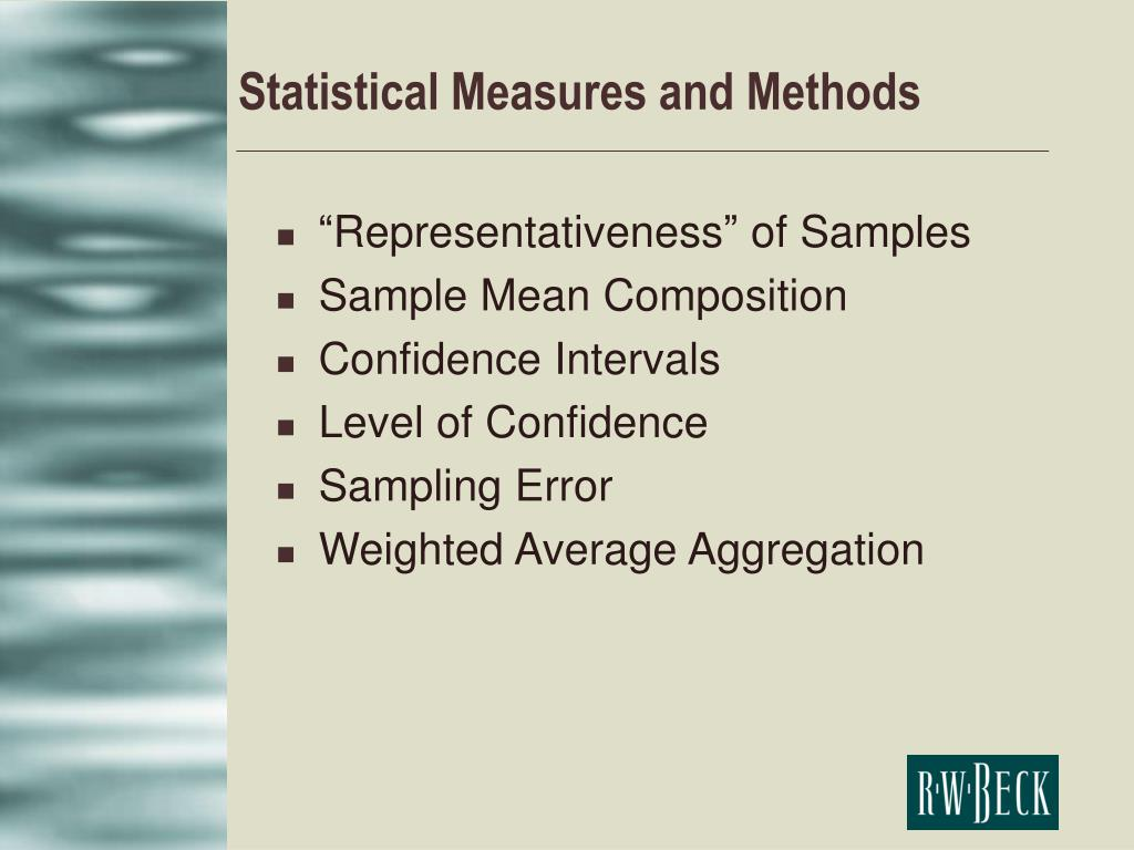 Statistical Measures and Methods