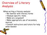overview of literary analysis