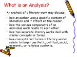 what is an analysis