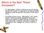 which is the best thesis statement9
