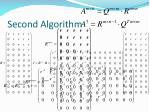 second algorithm