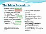the main procedures