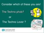 the techno phob