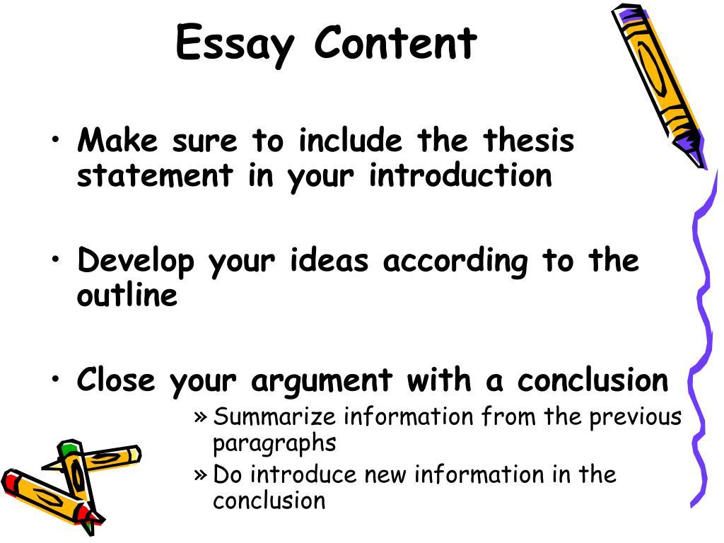 Essay Content