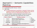 approach i semantic capabilities matching