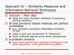 approach iv similarity measures and information retrieval techniques29