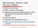 ibm semantic tools for web services stws