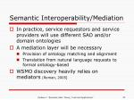 semantic interoperability mediation