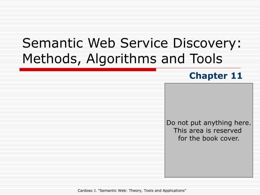 semantic web service discovery methods algorithms and tools l.
