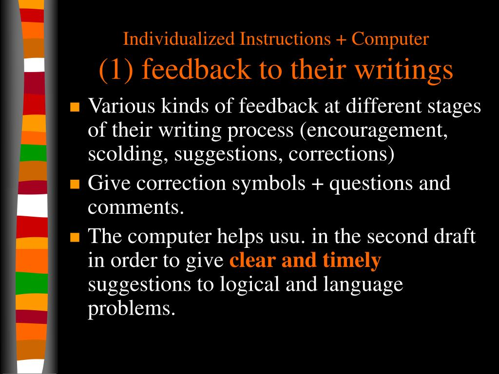 Individualized Instructions + Computer
