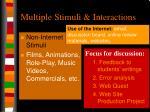 multiple stimuli interactions