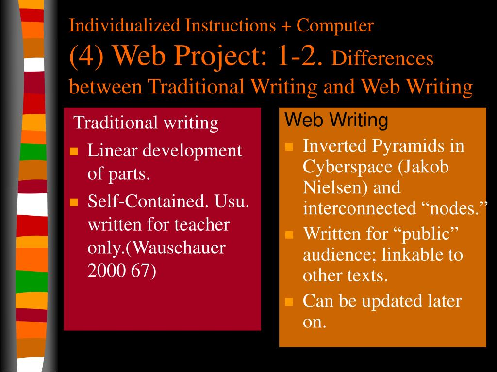 Traditional writing