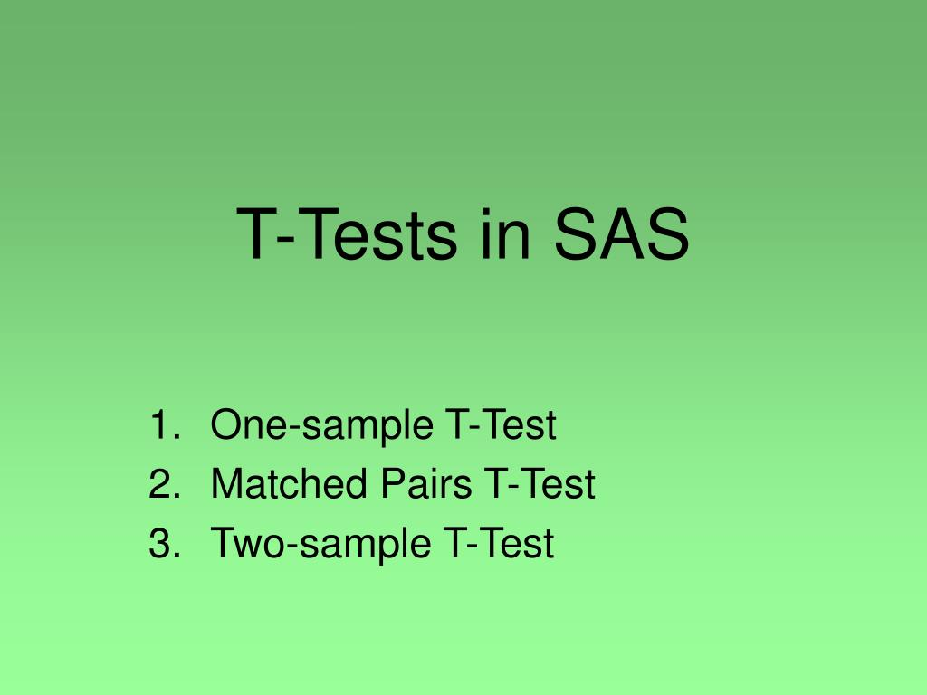 t tests in sas l.