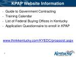 kpap website information