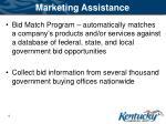 marketing assistance