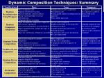 dynamic composition techniques summary